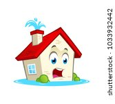 funny house character with... | Shutterstock .eps vector #1033932442