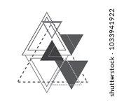 vector abstract composition... | Shutterstock .eps vector #1033941922