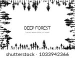 ink hand drawn forest. design...   Shutterstock .eps vector #1033942366