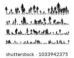 ink hand drawn forest. design... | Shutterstock .eps vector #1033942375
