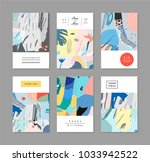 collection of creative... | Shutterstock .eps vector #1033942522