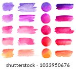 colorful vector watercolor... | Shutterstock .eps vector #1033950676
