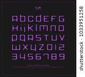 handwritten style alphabet... | Shutterstock .eps vector #1033951258