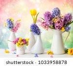 beautiful spring flowers...   Shutterstock . vector #1033958878