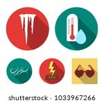 humidity  icicles  thunderbolt  ...   Shutterstock .eps vector #1033967266