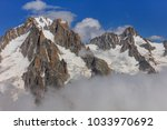 mont blanc mountain. view from... | Shutterstock . vector #1033970692