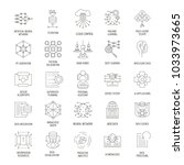 neural network outline icons... | Shutterstock .eps vector #1033973665