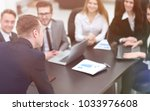 blurred image of business team... | Shutterstock . vector #1033976608