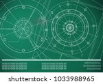 vector mechanical engineering... | Shutterstock .eps vector #1033988965