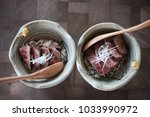 mini wagyu don | Shutterstock . vector #1033990972