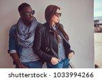 portrait of an attractive... | Shutterstock . vector #1033994266