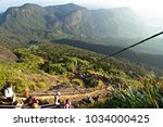adam's peak  sri lanka   march... | Shutterstock . vector #1034000425