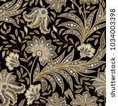 floral pattern. flourish tiled... | Shutterstock .eps vector #1034003398