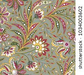 floral pattern. flourish tiled... | Shutterstock .eps vector #1034003602
