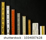 rulers and scales in metric and ... | Shutterstock . vector #1034007628