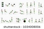 set of sport exercises.... | Shutterstock .eps vector #1034008006