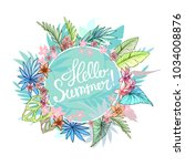hello summer typographical... | Shutterstock .eps vector #1034008876