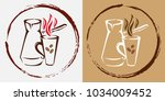 logo design template. hot... | Shutterstock .eps vector #1034009452