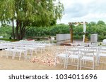 area of the wedding ceremony... | Shutterstock . vector #1034011696