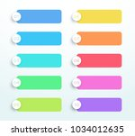 vector set of colorful 3d text... | Shutterstock .eps vector #1034012635