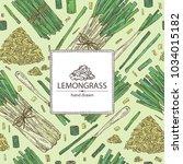 background with lemongrass ... | Shutterstock .eps vector #1034015182