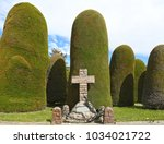 scenes at cemetery of punta... | Shutterstock . vector #1034021722