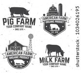 american farm badge or label.... | Shutterstock .eps vector #1034026195