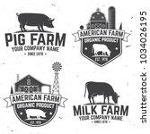 american farm badge or label.... | Shutterstock .eps vector #1034026195