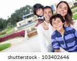 portrait of a beautiful family... | Shutterstock . vector #103402646