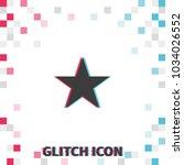 star  glitch effect vector icon.