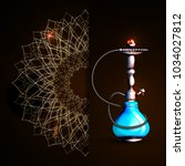 vector illustration of a hookah ... | Shutterstock .eps vector #1034027812