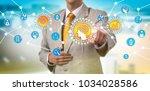unrecognizable pharmaceutical...   Shutterstock . vector #1034028586