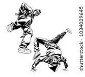b boys dancers characters set... | Shutterstock .eps vector #1034029645