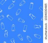 seamless pattern sport bottle.... | Shutterstock .eps vector #1034030485