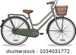 vector illustration of a green... | Shutterstock .eps vector #1034031772