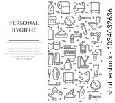 personal hygiene banner with... | Shutterstock .eps vector #1034032636