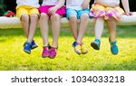 footwear for children. group of ... | Shutterstock . vector #1034033218