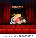 movie cinema premiere poster... | Shutterstock .eps vector #1034035126