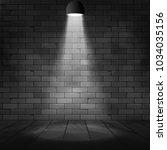 vector spotlight illuminated... | Shutterstock .eps vector #1034035156