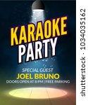 karaoke party invitation poster ... | Shutterstock .eps vector #1034035162
