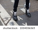 paris january 24  2017. street... | Shutterstock . vector #1034036365
