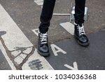 paris january 24  2017. street... | Shutterstock . vector #1034036368