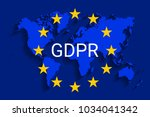 gdpr   general data protection... | Shutterstock .eps vector #1034041342