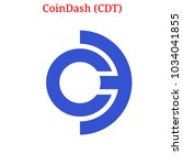 vector coindash  cdt  digital... | Shutterstock .eps vector #1034041855