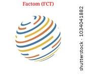 vector factom  fct  digital... | Shutterstock .eps vector #1034041882