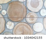 abstract stump tiled background. | Shutterstock . vector #1034042155