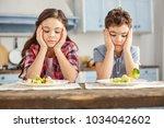 we detest vegetables.... | Shutterstock . vector #1034042602