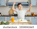 i am strong. handsome cheerful... | Shutterstock . vector #1034042665