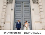 wedding photo in american style ... | Shutterstock . vector #1034046322