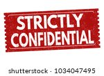 strictly confidential grunge... | Shutterstock .eps vector #1034047495